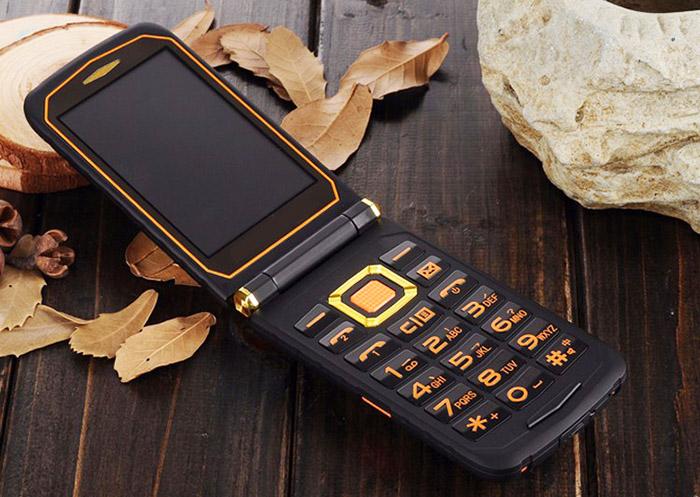 защищенный телефон раскладушка на андроид