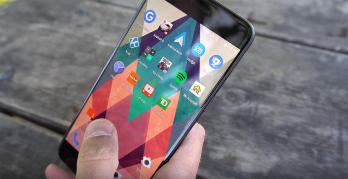 экран смартфона oneplus 5