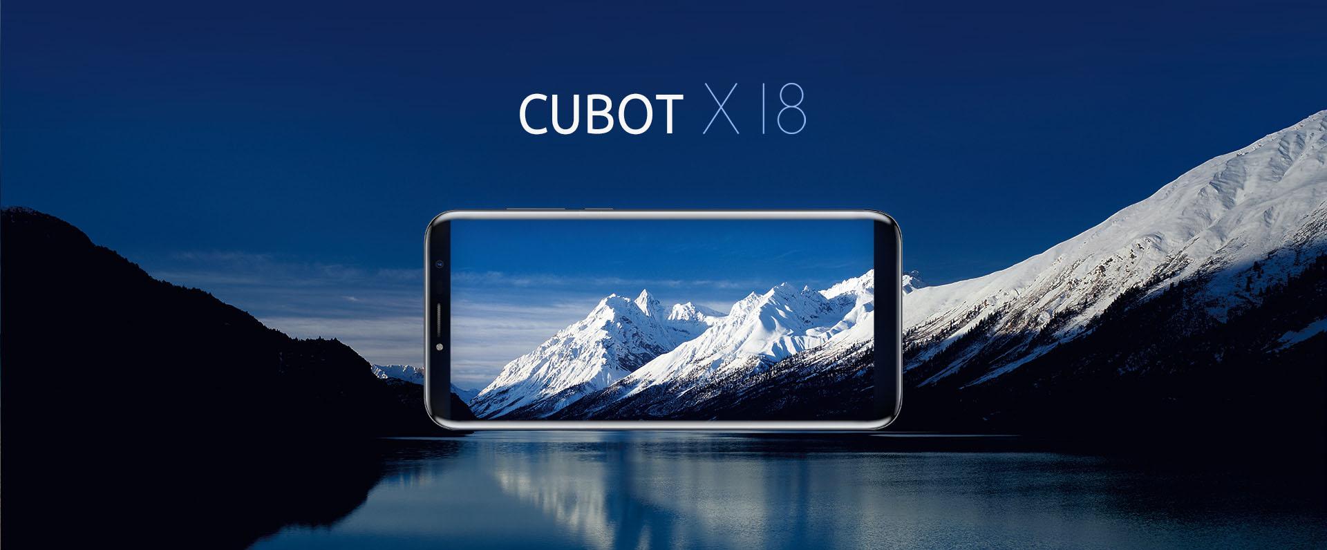 Стеклянный Cubot X18 с экраном 18:9 показан на тизере