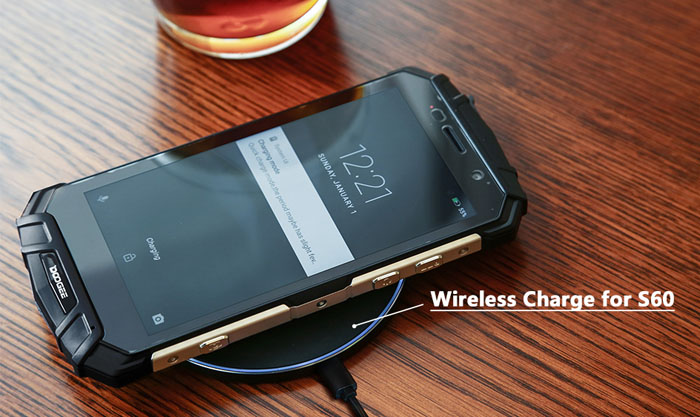 Doogee S60 смартфон с зарядкой QI