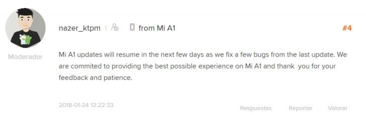 Oreo update для Xiaomi Mi A1