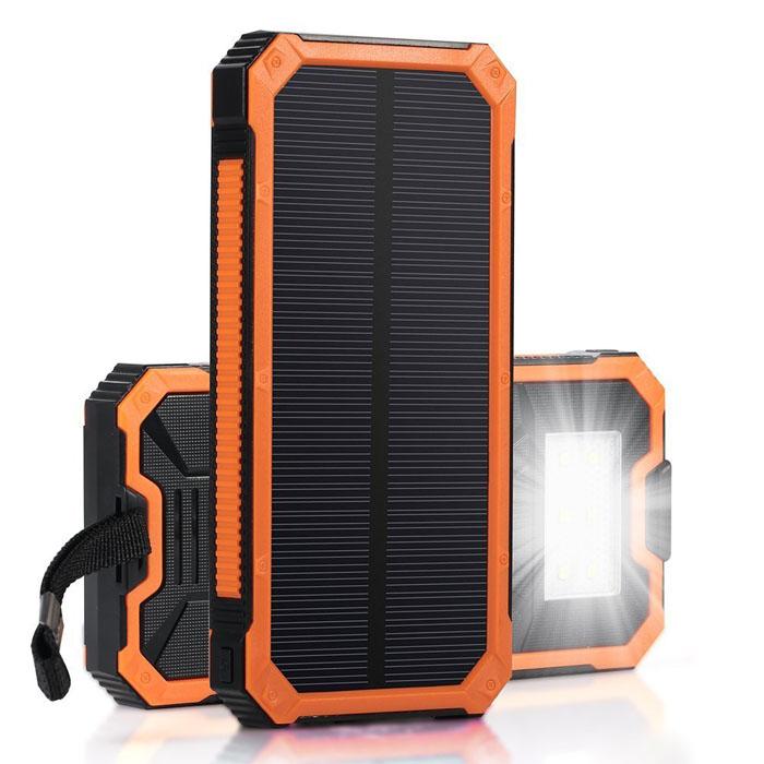 пауэр банк с солнечной панелью