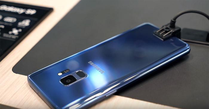 сканер отпечатков пальцев Samsung Galaxy S9
