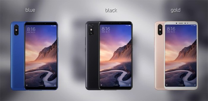 Цвета смартфона Xiaomi Mi Max 3