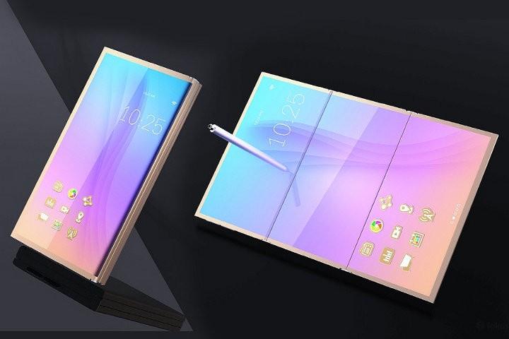 первый складной телефон Samsung Galaxy Х