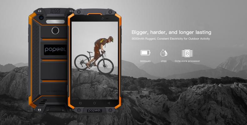 Poptel P9000 Max: защищенный смартфон с аккумулятором большой емкости