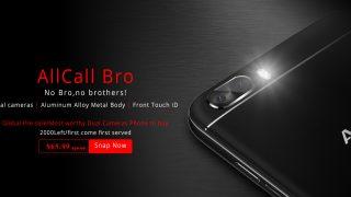 AllCall Bro — первый смартфон нового производителя