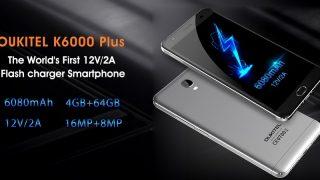 Стильный Oukitel K6000 Plus с живучей батареей
