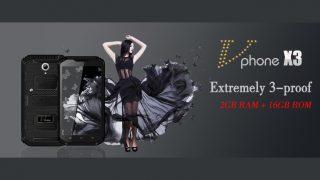 Vphone X3 — противоударный, водонепроницаемый смартфон!